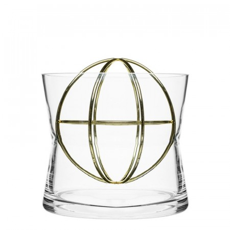 Sphere Vase fra Born in Sweden-Goldplated Ball- str smal.