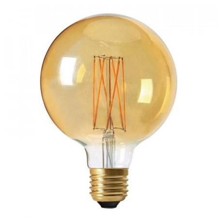 Elect LED Filament Globe Gold 125mm.