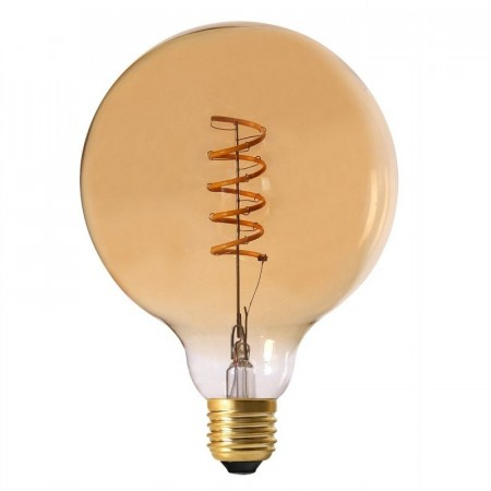 Elect Spiral LED Fil Globe Gold 125mm.