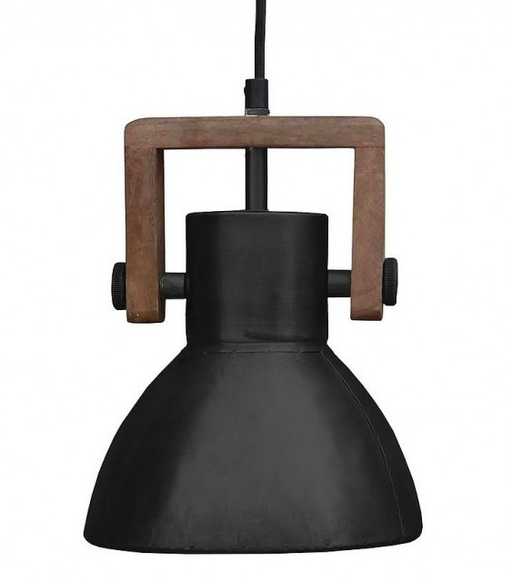 Taklampe Ashby Single 19 cm Black